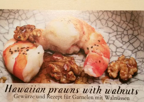 Hawaiian prawns with Walnuts